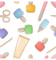seamless pattern with lipsticks wallpaper nail vector image