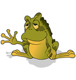 Sleepy Green Frog vector image vector image