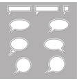 speech bubbles round and square vector image