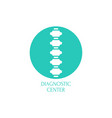 spine diagnostic center vector image vector image