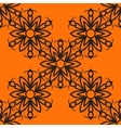 Stylized flower tile Seamless Ornamental stylized vector image vector image