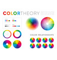 templates color theory presentations vector image vector image
