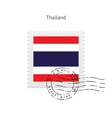 Thailand Flag Postage Stamp vector image vector image