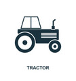 tractor icon in flat style icon design vector image vector image