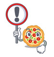 with sign margherita pizza in a cartoon oven vector image