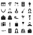 discotheque icons set simple style vector image