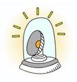 Siren and Flashing Beacon pop art vector image