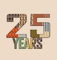 25 years anniversary background vector image