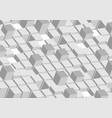 3d abstract tech grey geometric shapes background vector image