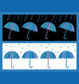 a set of two umbrella background vector image