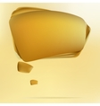 Abstract gold speech bubble EPS8 vector image vector image