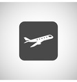 Airplane Plane symbol Travel icon vector image vector image
