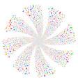 ambulance car fireworks swirl rotation vector image vector image