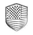 badge of flag united states of america monochrome vector image vector image