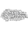 benefits of laser hair removal text word cloud vector image vector image
