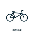 bicycle icon in flat style icon design vector image vector image