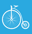 cartoon penny farthing bicycle - old bicycle icon vector image
