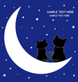 cats on the moon vector image vector image