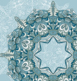 Circle lace hand-drawn ornament card Ornamental vector image vector image
