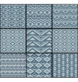 collection monochrome seamless knitted patterns vector image vector image