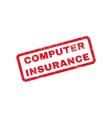Computer Insurance Text Rubber Stamp vector image vector image