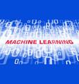 computer machine learning symbol programming vector image