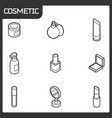 cosmetic outline isometric icons vector image vector image