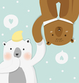 couples bear vector image vector image