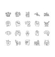 creative thinking line icons signs set vector image vector image