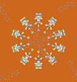 decorative colored round ornament yoga logo vector image vector image