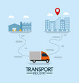 delivery and transport industry vector image