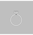 Diamond ring computer symbol vector image