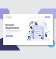 domain registration concept vector image