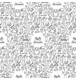 doodle bashower seamless pattern vector image