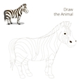 Draw the animal educational game zebra vector image vector image