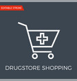 drugstore shopping thin line icon vector image