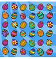 easter eggs background cartoon vector image vector image