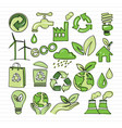 eco doodle vector image vector image
