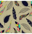 Feather tribal seamless pattern vector image vector image