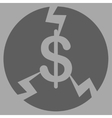 Financial Crash Icon from Commerce Set vector image