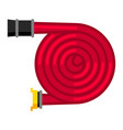 fire hose firefighting item vector image