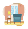 flat of the living room vector image vector image