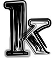 Freehand Typography Letter k vector image vector image