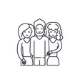 friends line icon concept friends linear vector image