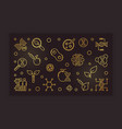 gmo golden outline banner on dark vector image vector image