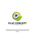 green play logo design concept nature play logo vector image vector image