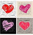 Heart set Love background vector image vector image