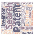 How Patent Searches Work text background wordcloud vector image vector image