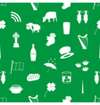 ireland country theme icons green and white vector image