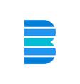 letter b logo concept icon vector image vector image